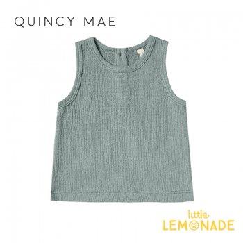 【Quincy Mae】 タンクトップ Ocean【6-12カ月/12-18カ月/18-24カ月】 Woven Tank ノースリーブ トップス