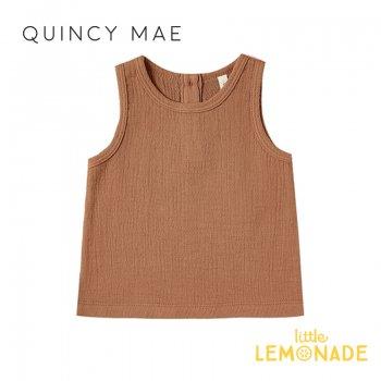 【Quincy Mae】 タンクトップ Rust【6-12カ月/12-18カ月/18-24カ月】 Woven Tank ノースリーブ トップス YKZ