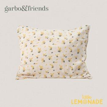 【garbo&friends】 ピローケース/ミモザ柄 枕カバー モスリンコットン クッションカバー Pillowcase mimosa コットン100% フラワー 寝具 GOF16173_SE