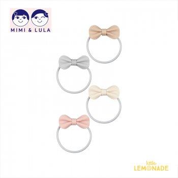 【Mimi&Lula ミミアンドルーラ】 GRACIE PONIES/ヌードカラーリボンヘアゴム ヘアアクセサリー 女の子(ML30201304)
