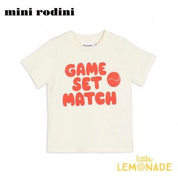 【Mini Rodini】GAME SET MATCH レッド Tシャツ 【1.5-3歳/3-5歳/5-7歳】 子供服 ベビー服 夏服  RED(20220140) 20SS  SALE
