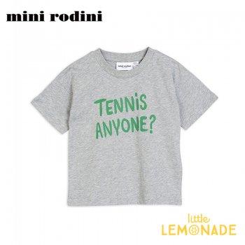 【Mini Rodini】TENNIS ANYONE グレー Tシャツ 【3-5歳/5-7歳/7-9歳】 子供服 ベビー服 夏服  tee(20220143) 20SS  SALE