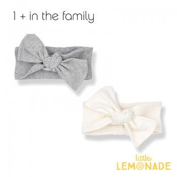 【1+ in the family】 ベビー ヘアバンド PATRICIA bandeau ホワイト グレー 女の子(376410171) YKZ