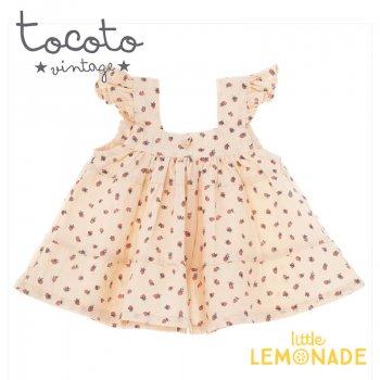 【Tocoto Vintage】Strawberry print dress 【12か月/18か月/2歳】 イチゴ柄 ワンピース (S31720) 20SS YKZ SALE