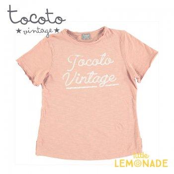 【Tocoto Vintage】T-shirt  SALMON 【2歳/3歳/4歳/6歳/8歳】 半袖 シャツ ピンク(S51920) 20SS SALE