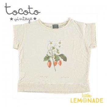 【Tocoto Vintage】T-shirt  Strawberry 【2歳/3歳/4歳/6歳】 半袖 シャツ イチゴ 苺 (S52320) 20SS