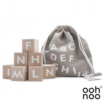 【ooh noo】   Alphabet Blocks White アルファベットブロック 10個入り 積み木 ホワイト