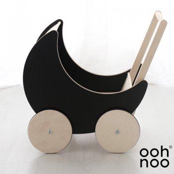 【ooh noo】   Toy Pram BlackBoard 手押し車 トイプラム ブラック