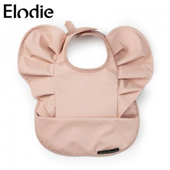 【Elodie 】    お食事エプロン 袖フリルビブ Powder Pink