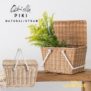 【Olli Ella オリエラ】PIKI BASKET バスケット2色 カゴバック おままごと ピクニック かご カゴ バッグ リトルレモネード