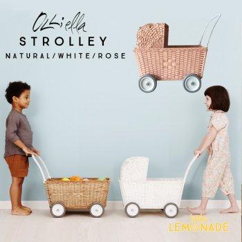【Olli Ella オリエラ】STROLLEY ストローリー 3色 子供用 おままごと ベビーカー ピクニック かご カゴ バッグ リトルレモネード