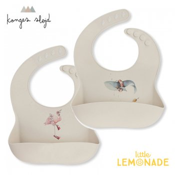 【Konges Sloejd】 シリコンビブ フラミンゴ・クジラ BIB SILICONE - NATURE WHALE FLAMINGO (KS1360)