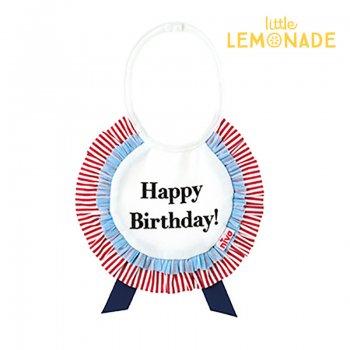 【niva】 お誕生日ロゼットスタイ happy birthday おしゃれ スタイ ビブ よだれかけ ロゼット 女の子 男の子 誕生日 出産祝い リトルレモネード(137)