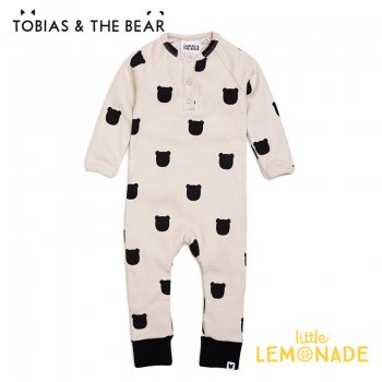 【Tobias & The Bear】 ブラッシュベアー カバーオール 長袖長ズボン 【3-6/6-12/12-18/18-24か月】 Blush Bear romper (BLBEBR)
