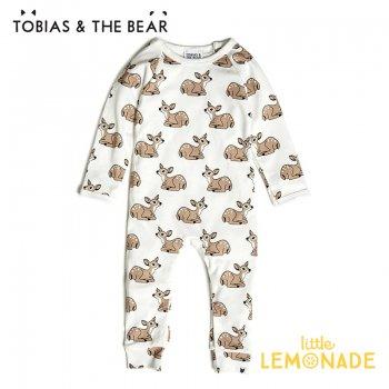 【Tobias & The Bear】 小鹿 カバーオール 長袖長ズボン 【3-6/6-12/12-18/18-24か月】 Fawn long romper  (FAWLR)