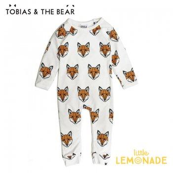 【Tobias & The Bear】 キツネ カバーオール 長袖長ズボン 【3-6/6-12/12-18か月】 Just Call Me Fox long romper  (FOXCLR)