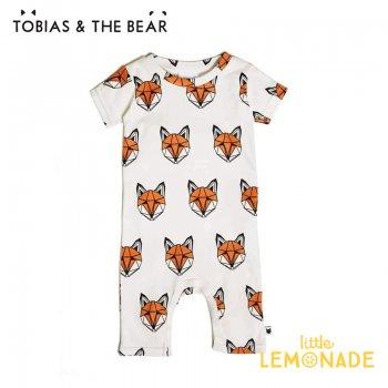 【Tobias & The Bear】 キツネ 半袖ロンパース 【3-6/6-12/12-18か月】 Just Call Me Fox short romper  (FOXSR)