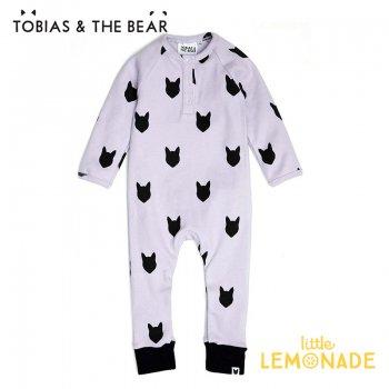 【Tobias & The Bear】 ライラックフォックス カバーオール  【3-6/6-12/12-18/18-24か月】 Lilac Fox placket romper  (LIFOXBR)