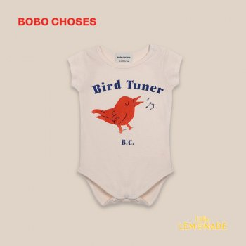 【BOBO CHOSES】 Bird Tuner Short Sleeve Body 【6-12M/12-18M】  ロンパース 半袖 ベビー服 22000021 ボボショーズ 20AW