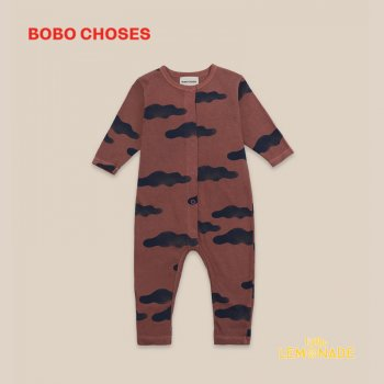【BOBO CHOSES】 Clouds All Over Overall 【3-6M/6-12M】 長袖 つなぎ ベビー服 22000079 ボボショーズ 20AW オーバーオール