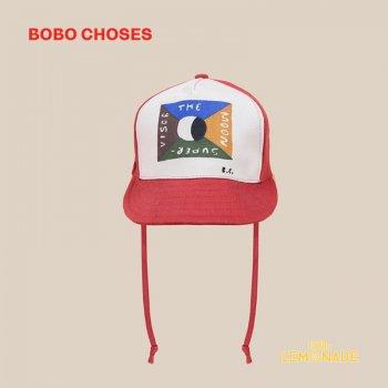 【BOBO CHOSES】 Flag Patch Cap 子供サイズ 帽子 コットキャップ 22011003 ボボショーズ 20AW