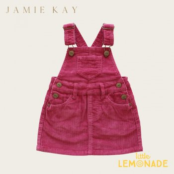 【Jamie Kay】 CORD CHLOE OVERALL DRESS - BLOSSOM 【1歳/2歳/3歳】 ブロッサムピンク ジャンパースカート
