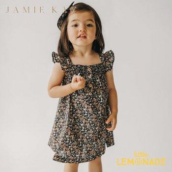 【Jamie Kay】 KENNEDY DRESS- LUCA FLORAL 【1歳/2歳/3歳】 花柄 ワンピース ブラック  AW SALE