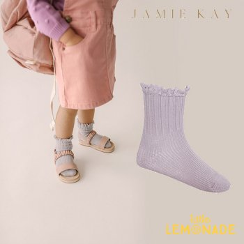 【Jamie Kay】 ERIN SOCK - IRIS  【0-3か月/3-12か月/1-2歳/2-4歳/4-6歳】 靴下 子供ベビー用  フリル くるぶし丈 (JK20ERINS)