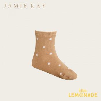 【Jamie Kay】 DOTTY SOCK - SANDY 【0-3か月/3-12か月/1-2歳/2-4歳/4-6歳】 靴下 子供ベビー用  ドット柄 サンドベージュ (JK20DOTTYS)