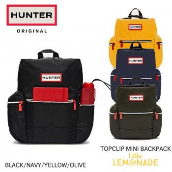 【HUNTER】TOPCLIP MINI BACKPACK NYLON トップクリップミニバックパック ナイロン  【DARK OLIVE/BLACK/NAVY/YELLOW】 SALE