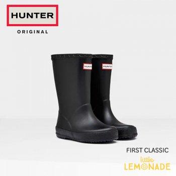 【HUNTER】KIDS FIRST CLASSIC 黒 長靴 ブラック キッズ ファースト クラシック  【13-17cm】2-6歳 KFT5003RMA
