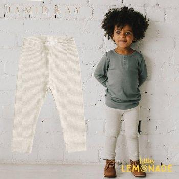【Jamie Kay】 Organic Essential Leggings - Oatmeal Marle 【3-6か月/6-12か月/1歳/2歳/3歳】 コットンレギンス パンツ