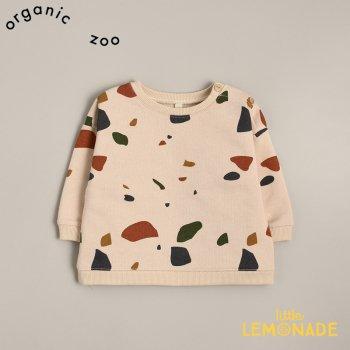 【organic zoo】 Terazzo Sweatshirt 3-6か月/6-12か月/1-2歳/2-3歳/3-4歳 テラゾー柄 スウェットシャツ トレーナー (TBSOZ) 20AW
