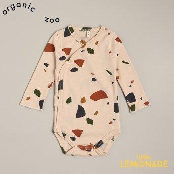 【organic zoo】 テラゾー柄 ロンパース 【0-3か月/3-6か月/6-12カ月】 Terazzo Wrap Bodysuit ボディスーツ  (WOBT) 20AW