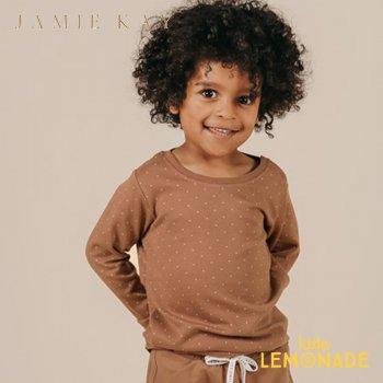 【Jamie Kay】 JOE TOP - TINY DOTS 【1歳/2歳/3歳】 トップス 長袖 シャツ ロンT ブラウン ショーツ 茶色 ドット AW SALE