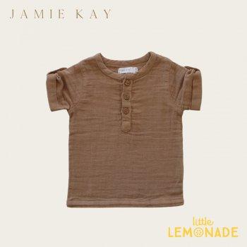 【Jamie Kay】 SAMMIE TOP - CAMEL 【1歳/2歳/3歳/4歳/5歳/6歳】 トップス 半袖 シャツ オーガニック キャメル AW SALE