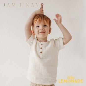 【Jamie Kay】 SAMMIE TOP - CLOUD 【1歳/2歳/3歳/4歳/5歳/6歳】 トップス 半袖 シャツ  ホワイト AW SALE