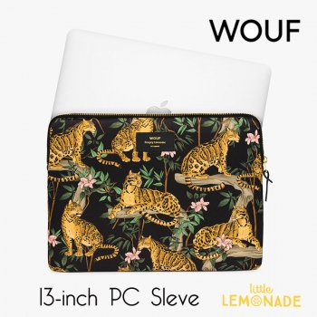 【WOUF】 13インチ PCケース 【Black Lazy Jungle】  パソコン用スリーブ Macbook Pro 13inch PC Sleeve  (S200014)