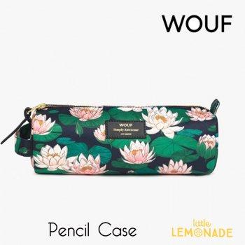 【WOUF】 ペンケース 【Nenuphares】 School Pencil Case 睡蓮 ハス おしゃれ 小物入れ 筆箱   (MPS200012)