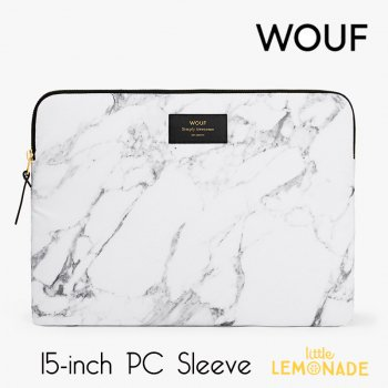 【WOUF】 15インチ PCケース 【White Marble】 パソコン用スリーブ Macbook Pro 15/16 inch PC Sleeve  (SB160004)