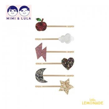 【Mimi&Lula ミミアンドルーラ】 LONDON GRIPS /ロンドンヘアピン6個セット ヘアアクセサリー 女の子 20AW(602003 14)