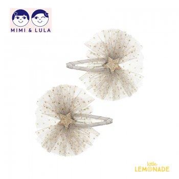 【Mimi&Lula ミミアンドルーラ】 BALLET STAR CLIPS/バレエスターヘアクリップ2個セット 女の子 20AW(602076 07)