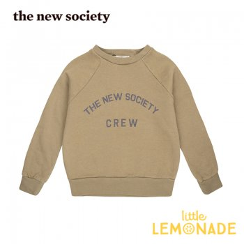 【The New Society】 The New Society Crew Sweater KAKHI  【3歳/4歳/6歳】 スエットシャツ トレーナー 20AW