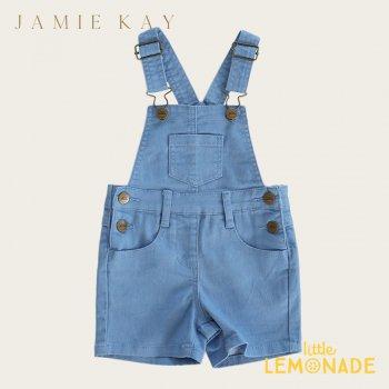 【Jamie Kay】CASEY OVERALL - OCEAN 【6-12か月/1歳/2歳/3歳/4歳】 デニム オーバーオール ショート丈   SALE
