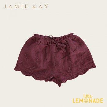 【Jamie Kay】QUINN SHORT - GRAPE 【1歳/2歳/3歳/4歳】 刺繍キュロット ボトムス スカート ジェイミーケイ   AW SALE