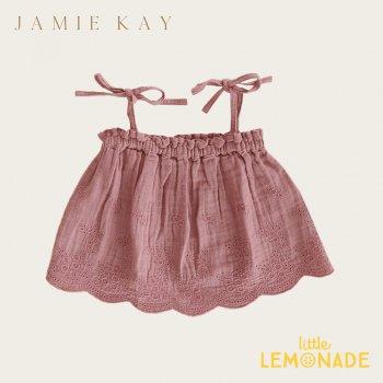 【Jamie Kay】BLAKE SINGLET - PRAGUE 【1歳/2歳/3歳】 刺繍トップス キャミソール ジェイミーケイ