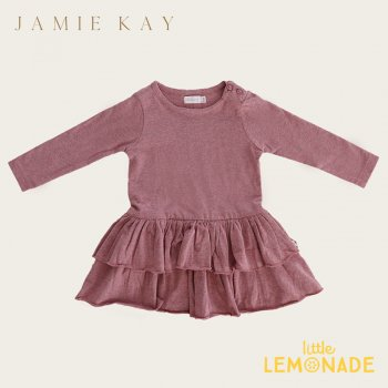 【Jamie Kay】 ECHO DRESS - BERRY FIZZ 【1歳/2歳/3歳/4歳/5歳】 ワンピース 長袖 くすみカラー ジェイミーケイ  AW SALE