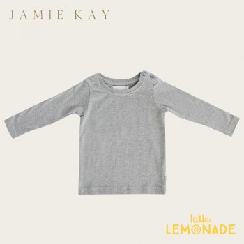 【Jamie Kay】 JOE TOP - GLACIER 【1歳/2歳/3歳/4歳/5歳/6歳】 長袖 トップス Tシャツ 長袖シャツ くすみカラー AW SALE