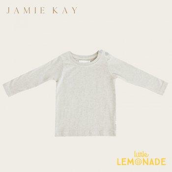【Jamie Kay】 JOE TOP - LINEN  【1歳/2歳/3歳/4歳/5歳】 長袖 トップス Tシャツ 長袖シャツ くすみカラー  AW SALE