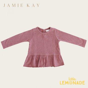 【Jamie Kay】 BAILEY TOP - BERRY FIZZ 【1歳/2歳/3歳/4歳/5歳/6歳】  長袖 裾フリル トップス Tシャツ  AW SALE